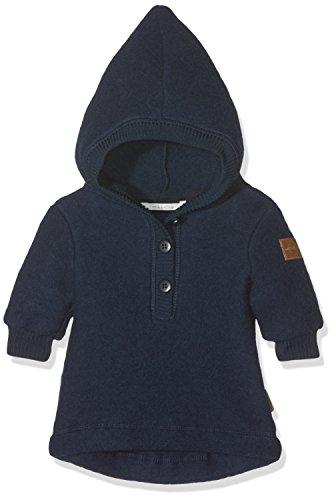 mikk-line Unisex Baby Woll-Kapuzenshirt Sweatshirt, Blau (Blue Nights 287), 98