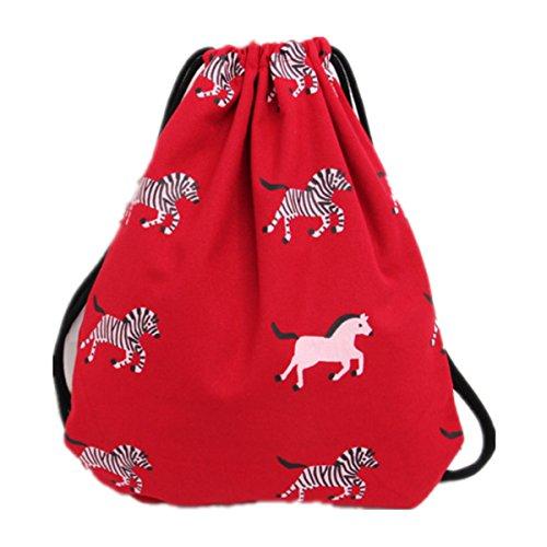 inkaufstasche Beutel Turnbeutel Tasche Tüte Hipster Jutebeutel Strandtasche Reisen Wandern Einfach (Rot) (Wäscheklammer-flugzeug)