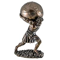 Atlas World, the ball on the shoulders to open, Bronze