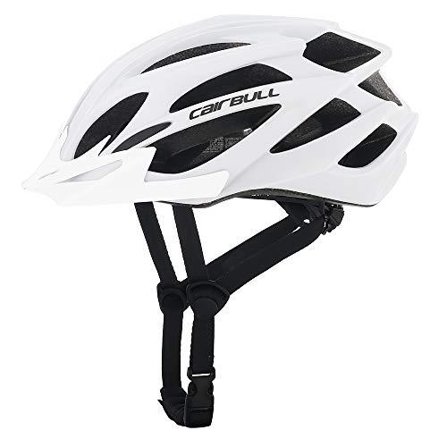 Cairbull Größe M und L Specialized Fahrradhelm MTB Helm Mountainbike Helm Herren & Damen Schwarz mit Rucksack Fahrrad Helm Integral 21 Belüftungskanäle (Weiß01, M/L...