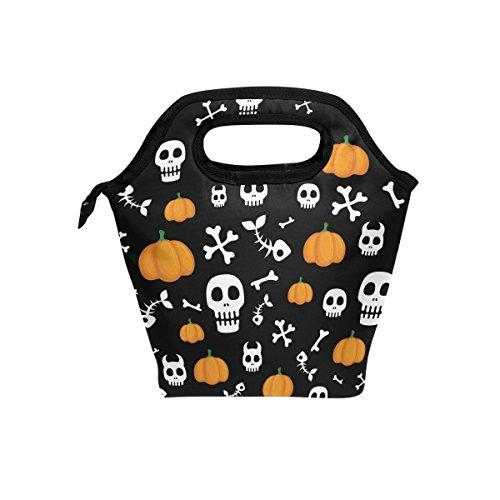 Use7 use4Halloween Kürbis Ghost Fisch Knochen Isolierte Lunch Bag Tasche Cooler Lunchbox für Picknick Schule Frauen Herren