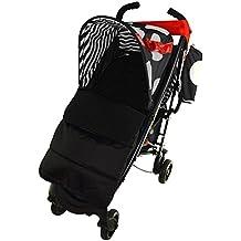 Saco de pies para cochecito, compatible con Maclaren Quest Sport, color negro