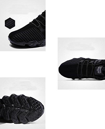SPEEDEVE Scarpe da Ginnastica Uomo Scamosciato Sneakers Casual Scarpe da Corsa Nero
