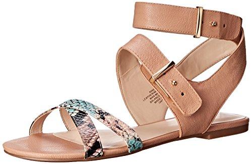 Nove in pelle occidentale Darcelle Dress Sandal Natural/Light Natural/Multi