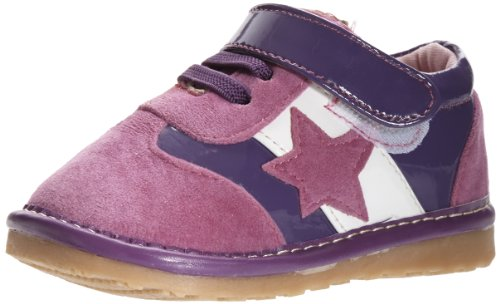 Little Blue Lamb Squeaky Schuhe Sneaker Stern Klettverschluß violett Violett