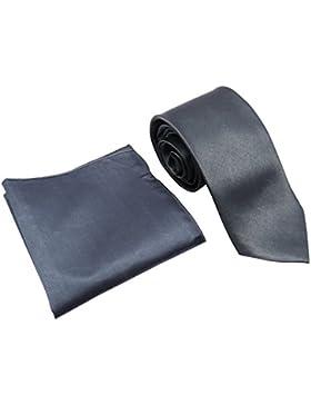 Boda del cuadrado del satén corbata traje de bolsillo flaco lazo de los hombres Accesorios partido