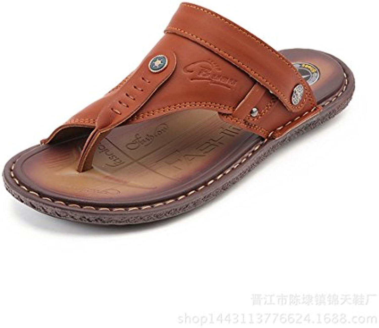 GCH Verano Hombres Zapatillas de Playa Sandalias Casual y Cómoda,Brown,40