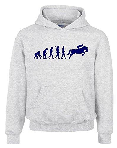 REITEN Evolution Kinder Sweatshirt mit Kapuze HOODIE grau-navy, (Und Kostüme Pony Reiter)