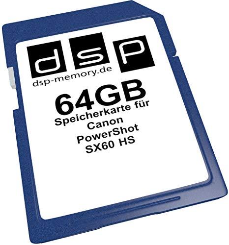 DSP Memory Z-4051557435896 64GB Speicherkarte für Canon PowerShot SX60 HS - Powershot Speicherkarte Canon