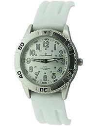 Predator PRE98/B Damen-Armbanduhr, Quarzwerk mit Analoganzeige, Armband aus Silikon, Weiß