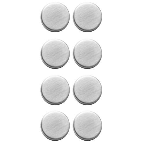 Lot de 8 Extra Belle Aimants Aimants Ronds Tableau magnétique en acier inoxydable Réfrigérateur