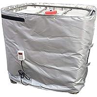 D&F 1000 litros Calentador de Tambor Aislado Controlador termostático Digital Ajustable Grasa Calentador de Barril 1100 * 4400 mm