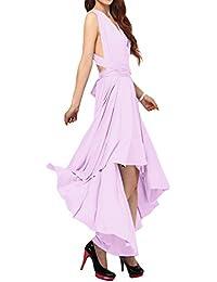 Mujer Vestido de Noche Falda Larga Verano Fiesta Elegante Dama de Honor Multi-Manera Transformer