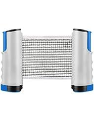 Tencoz table tennis nets retractable table tennis net portable Ping pong accessories NET, perfect for table tennis, for all table tennis plates adjustable length 170 (max) x 14.5cm