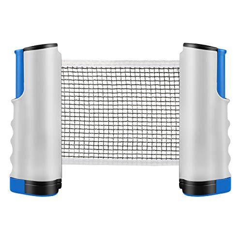 Tencoz Reti da Ping Pong, Rete da Ping-Pong a Scomparsa Rete da Ping-Pong Portatile Portatile, Perfetta per Ping-Pong, per Tutti i tavoli da Ping-Pong Regolabile Lunghezza 170 (Max) x 14,5 cm