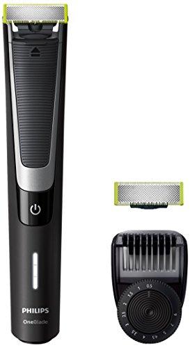 Philips OneBlade Pro QP6510/60 - Pack de recortador de barba con peine de precisión de 12 longitudes y cuchilla adicional, recorta, perfila y afeita, recargable