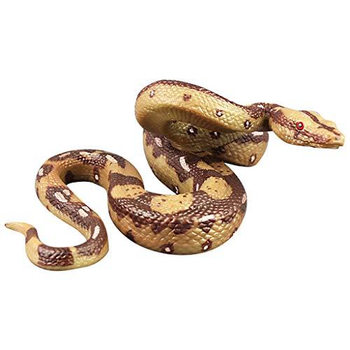 Neuer Gummi Schlange Spielzeuge Schlangen Party Tasche Füllstoffe Halloween Stütze Scherz Weich Solide Python Modell Dschungel (Für Taschen 1-jährigen Halloween)