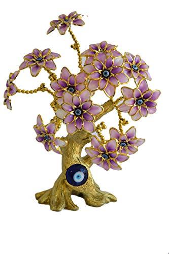My Aashis Böses Auge Schmetterling Baumschmuck für Schutz und bringt Glück, Rosa See The pics Same as Pics