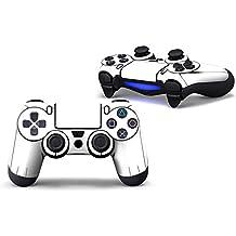 Morbuy PS4 Controller Skin Diseñador Piel Pegatina para Sony PlayStation 4 PS4 Slim PS4 Pro DualShock mando inalámbrico x 1 (White)