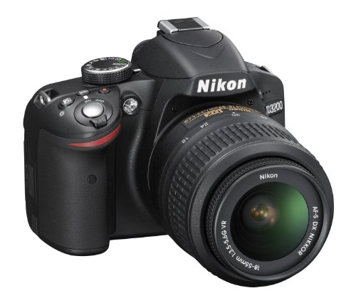 Nikon D3200 SLR-Digitalkamera (24 Megapixel, 7,4 cm (2,9 Zoll) Display, Live View, Full-HD) Kit inkl. AF-S DX 18-55 VR Objektiv schwarz - 3