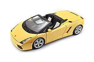 Bburago - Lamborghini Gallardo Spyder, color amarillo (18-12016) , Modelos/colores Surtidos, 1 Unidad