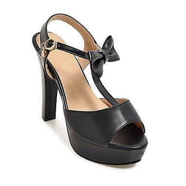LvYuan Sandali-Formale Casual Serata e festa-Cinturino D'Orsay Club Shoes-Quadrato-Finta pelle-Nero Blu Rosa Bianco Blue