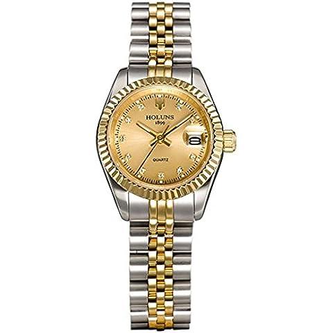 downj Luxury oro quadrante orologio al quarzo da donna orologi per le donne alla moda Casual orologi da polso