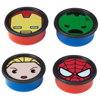 Authentic Disney, Marvel MXYZ, Aufbewahrungscontainer, 4er Set - Lunchbox - Kunstwerk von Hulk, Iron Man, Spider-Man und Agent 13 (Man Lunch-box-iron)