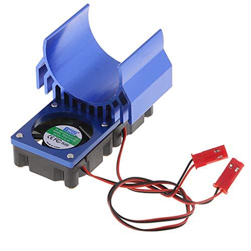 B Blesiya Motor Kühlkörper für 1/8 1/10 Elektrisch Betrieben RC Rennwagen 540 550 - Blau