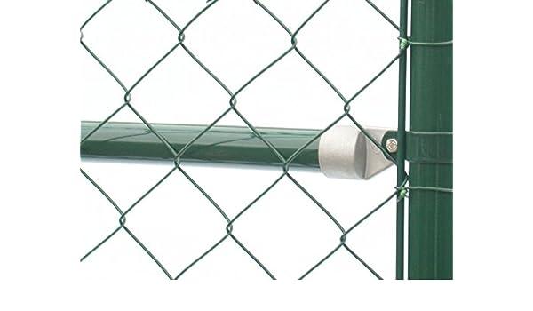 Schellen Ø 48 mm 6 Stck grün Maschendrahtzaun Pfosten Tür Tor Streben Zaun Zäune