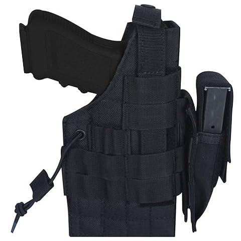 Noir Grand Cadre Pistolet ceinture Holster - droitier / gaucher,