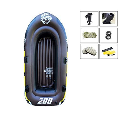 Gyt Espesar Lancha Inflable Kayak aerodeslizador para 3 Personas Bomba + Paleta...