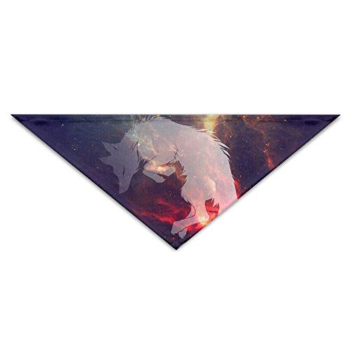 Baby Muster Wolf Kostüm - Gxdchfj Pet Triangle Bandana Space Galaxy Wolf Art Washable Dog Puppy Scarf Bib Babys Neckerchief Accessories