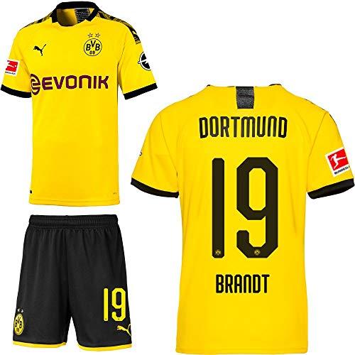 PUMA Borussia Dortmund BVB Heimset 2019 2020 Home Kit Trikot Shorts Kinder Julian Brandt 19 Gr 164 -