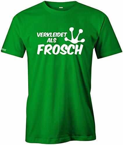 Frosch Kostüm Augen - Jayess Verkleidet ALS Frosch - Fasching Karneval KOSTÜM - Herren - T-Shirt in Grün by Gr. XL