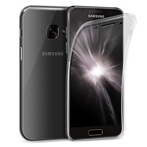 Zhinkarts Handy Hülle für Samsung Galaxy A5 2017 (A520) - Full Body 360 Grad TPU Silikon Crystal Case - Komplett Schutzhülle Cover in Transparent Clear