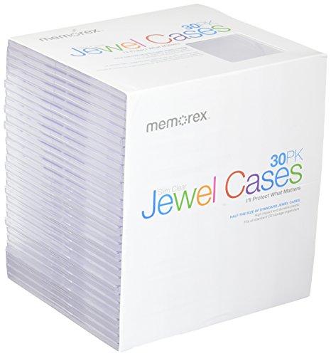 Memorex Clear Slim Jewel Cases, by Memorex (Memorex Slim)