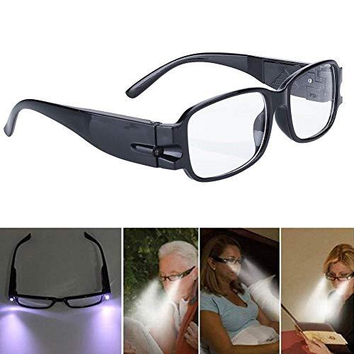 Nachtbrille Brille Fernsehbrille Mit Lichtern LED Lesebrille Hervorragend Zum Lesen, Modellbau, Kleine Miniaturarbeiten,300