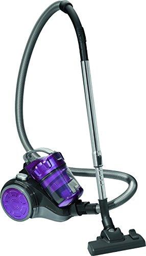 Clatronic BS 1302 Eco-Cyclon Twin-Spin Bodenstaubsauger, beutellos mit extra großem Aktionsradius, circa 8,3 m, anthrazit / violett