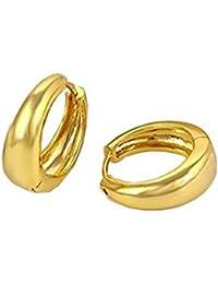 Gold Hoop Austrian Crystal Miami Jewellery Kaju Bali Earrings for Men