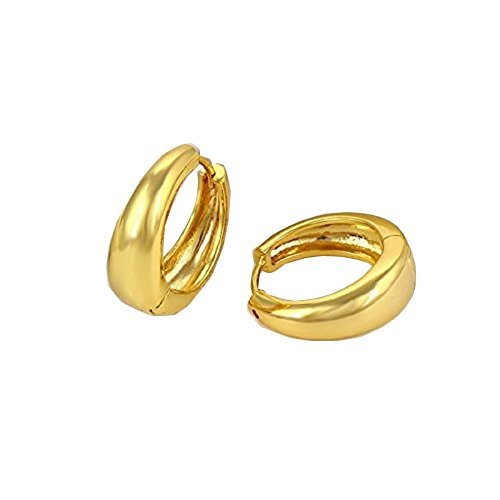 Gold Hoop Austrian Crystal Miami Jewellery Kaju Bali Earrings for Men