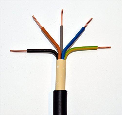Preisvergleich Produktbild METERWARE Erdkabel NYY-J 5x6 mm² RE schwarz 5x6 qmm RE Starkstromkabel Energiekabel - bestellte Menge entspricht der gelieferten Gesamtlänge