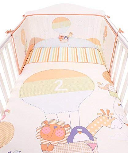 Bizzi Growin Unisex Pastel a la deriva de distancia 3piezas Animal juego de cama-incluye, edredón y sábana ajustable)