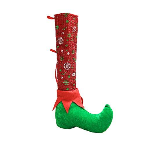 Nankod Weihnachten Stuhl Fußsocken Tischbeine Abdeckung Strumpf rutschfeste Schützen Boden Reduzieren Lärm Santa Stiefel Dekoration