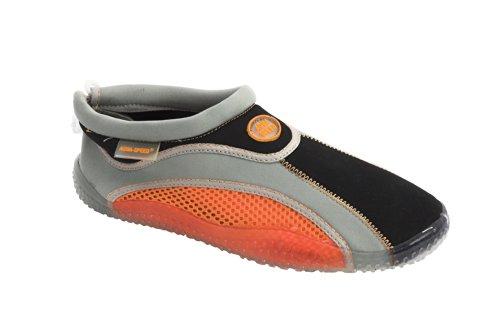 Aqua-Speed Wasserschuhe / Surfschuhe / Badeschuhe orange/grau/schwarz euUfZX