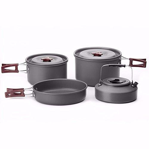 Fire Ahorn fmc-209Outdoor 4PCS/Set 3–4Personen Camping Kochgeschirr Pfanne/Kaffeemaschine Schüssel