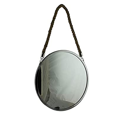 Silber Spiegel mit Seil Griff 40cm