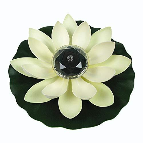 PoeHXtyy Floating Solar Power LED Lotus Licht Blume Lampe für Garten Rasen Teich Pool Nachtlicht