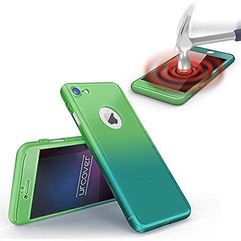 URCOVER® 360 Arcobaleno Hard Case Custodia Antishock Apple iPhone 7 Plus | Guscio Rigido in Verde / Azzurro | Cover Rigida Antishock Antigraffio Ultrasottile Protezione Schermo Completa