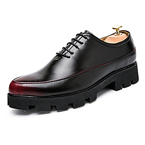 WZW-Mens-Oxfords-Clogs-Mules-Spring-Fall-PU-Wedding-Outdoor-Office-Career-Casual-Party-Evening-Flat-Heel-Lace-up-Others-Black-Grey-Red